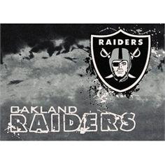 Oakland Raiders Rug Team Fade Mat
