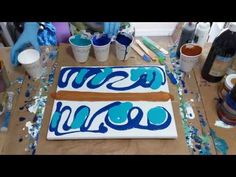 Acrylic pour using the swipe technique part 1 - YouTube