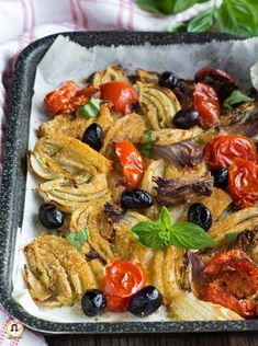 Veggie Recipes, Gourmet Recipes, Chicken Recipes, Healthy Recipes, Vegetable Side Dishes, Vegetable Pizza, Olives, Antipasto, Vegan Dishes