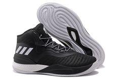 fed9625719eb 2018 adidas D Rose 8 Black White Men s Basketball Shoes Free Shipping  Indiana Basketball