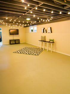 great basement lighting solution