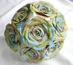 Treasure Map: For the bride who loves a great adventure, heres an upcycled map bouquet ($48) — perfect for a travel-themed or destination wedding or as a fun toss bouquet.