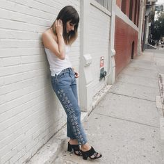 Ain't no party like #AfterPartyVintage || Shop the jeans: http://www.nastygal.com/vintage-after-party/after-party-vintage-rebel-rebel-jeans?utm_source=pinterest&utm_medium=smm&utm_term=nastygals_do_it_better&utm_campaign=ngdib