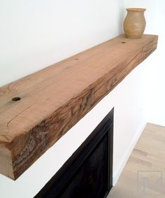 Reclaimed Wood Mantels Design Ideas, Pictures, Remodel and Decor