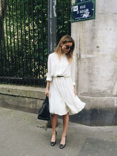 white dress outfit idea
