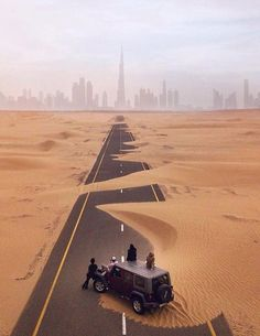 Road to Dubai UAE Image via - Architecture and Home Decor - Bedroom - Bathroom - Kitchen And Living Room Interior Design Decorating Ideas - Dubai City, Dubai Uae, Visit Dubai, Places To Travel, Travel Destinations, Places To Go, Europe Places, Abu Dhabi, Beautiful World