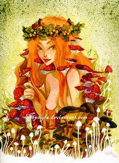 The Mushroom Fairy by Nephyla.deviantart.com on @deviantART