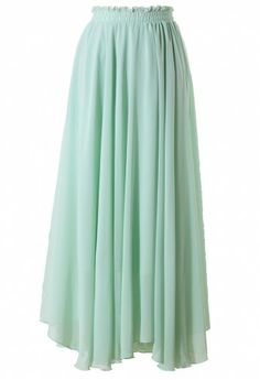 Light Green Long Maxi Skirt maybe with a nice white or light gray shirt/tank top. Beachy,,