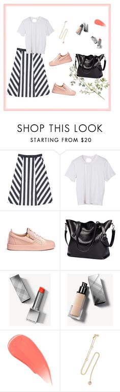 """""""Casual with a skirt"""" by frontrowshop on Polyvore featuring mode, Front Row Shop, Giuseppe Zanotti, Burberry et ANTONINI"""