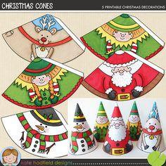 Christmas Cones printables