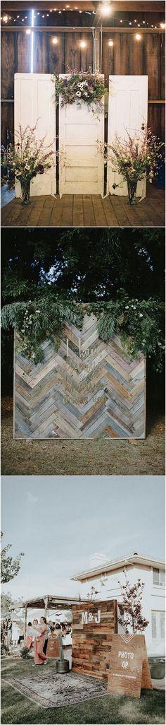 boho chic wooden and greenery wedding photo booth backdrop ideas_2 #weddingdecor #weddingideas #weddingphotos #weddingbackdrops #weddinginspiration