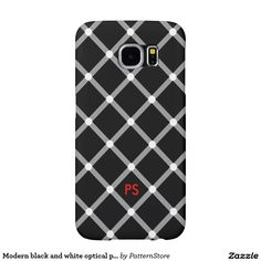 Modern black and white optical pattern illusion samsung galaxy cases Samsung Galaxy Cases, Optical Illusions, Phone Cases, Black And White, Modern, Pattern, Gifts, Design, Trendy Tree