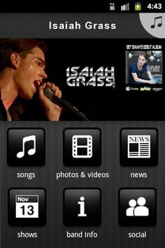 Do you have Isaiah on your phone? Go download the official Isaiah Grass app for (android) phones.  Link: http://www.reverbnation.com/isaiahgrass/app