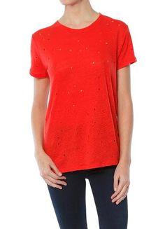 IRO Clay Shirt in Red Orange