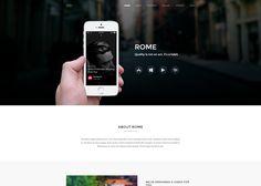 Rome - App Landing Page