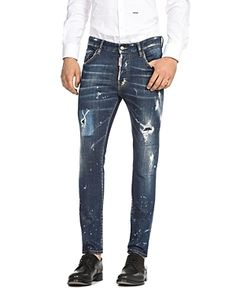 db28df6e0a73 DSQUARED2 DSQUARED2 DISTRESSED SKATER STRAIGHT SLIM JEANS IN PERFECTION.   dsquared2  cloth