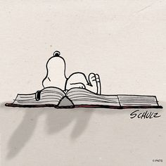 Snoopy the bookworm