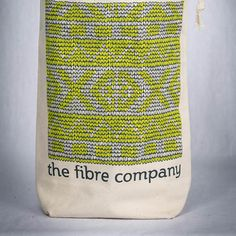 "The FIbre Co. Fair Isle Project Bag 100% organic cotton project bag printed with a hand-drawn Fair Isle stitch pattern. Measures 13 x 9 x 3.5"" (33 x 22.75 x 8.75 cm). Printed and sewn in the USA.- $12.00"