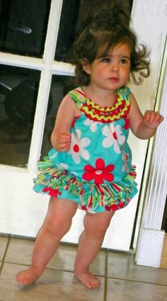 Ella moo top with skirted diaper cover.