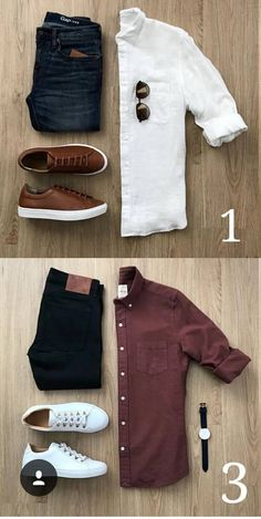 White Shirt + Vinotinto Shirt + Brown Shoe  brown  Herrenmode-Outfits  shirt d7ff62922bb3e