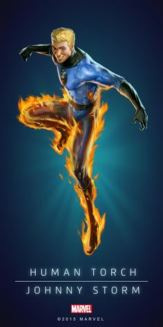 Human Torch Johnny Storm Poster-02