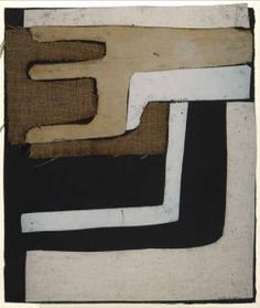 "tumbleword: "" Conrad Marca-Relli (American 1913-2000) Untitled C. 1960 Collage 37 x 32 cm Signed lower right """