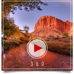 Sulphur Creek in Capitol Reef National Park, 360 degree panorama. Capitol Reef National Park, National Parks, Parks And Recreation, Monument Valley, Beautiful Pictures, Earth, America, Spaces, 3d