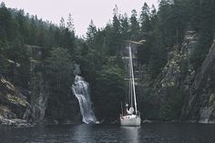 Looks amazing. Anchor next to the foot of a waterfall!     Desolation Sound, BC