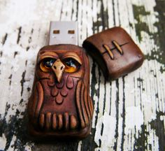 Owl USB Flash drive reserved by feythcrafts on Etsy, $25.00