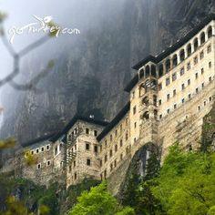 Sumela Monastry, Greek Orthodox monastery dedicated to Virgin Mary in Trabzon #Turkey #monastery #ttot #comeseeturkey