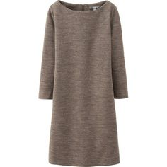 UNIQLO Women Wool Ponte Dress found on Polyvore