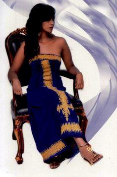 Ethiopian cultural blue saba dress | Ethiopian clothing | Eritrean clothes | Habesha dresses