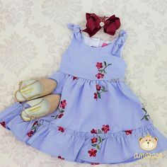 Cute Little Girls Outfits, Kids Outfits Girls, Little Dresses, Little Girl Dresses, Baby Outfits, Smocked Baby Clothes, Cute Baby Clothes, Baby Frocks Designs, Baby Dress Patterns