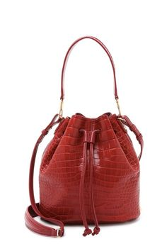 The best pieces from Shopbop's secret sale: Elizabeth and James Croc Embossed Cynnie Bucket Bag.