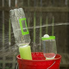 Fun science carnival activities from MSI. Learn about pressure with this water blaster and target.
