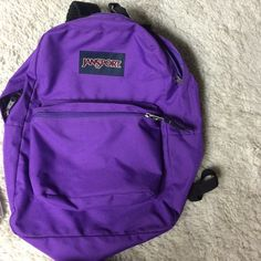 Purple Jansport Backpack Purple Backpack! Barely used! Bags Backpacks