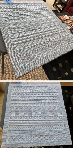 Easy Knit & Purl Baby Blanket - Free Pattern - - knitting for beginners knitting ideas knitting patterns knitting projects knitting sweater Baby Knitting Patterns, Knitting Stitches, Baby Patterns, Ravelry Free Knitting Patterns, Baby Blanket Knitting Pattern Free, Baby Blanket Crochet, Stitch Patterns, Knitted Afghans, Knitted Baby Blankets