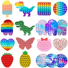 Cool Fidget Toys, Cool Toys, Sensory Toys For Autism, Figet Toys, Slime Toy, Pop Bubble, Kids Makeup, Disney Colors, Stress Toys