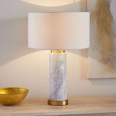 A built-in USB port makes our marble Pillar Table Lamp perfect anywhere—bedside, desk, family room—you want to stay connected (no charging block required! Wooden Lamp, Ceramic Table Lamps, Lamp Table, West Elm, Marble Pillar, Marble Lamp, Best Desk Lamp, Rustic Lamps, Farmhouse Lamps