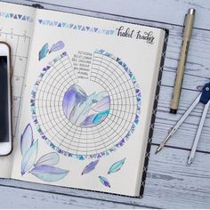 "182 Likes, 6 Comments - The Art Of Bujo (@theartofbujo) on Instagram: ""Gorgeous purple tracker by @journalbymir"""