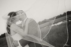 Dramatic effect with the veil blowing in the wind