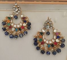 Kundan Bridal Jewelry Store for Indian Wedding Jewelry by Kundanweddingjewelry Real Gold Jewelry, Pink Jewelry, Gold Jewellery Design, Jewelry Art, Unique Jewelry, Indian Wedding Jewelry, Indian Jewelry, Bridal Jewelry, Bridal Earrings
