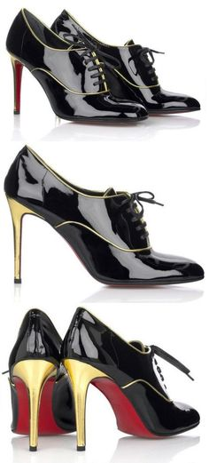 Christian Louboutin Oxfords <3 {because no shoe is really a shoe unless it has red bottoms}