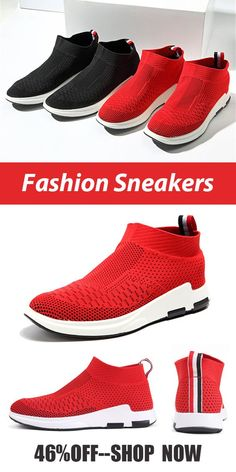 46%OFF Mens Flyknit Mesh Fabric Breathable Sock Trainers  Sneakers sports 13ea63dc5