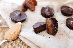 It's pretty hard to track down a healthier version of chocolate caramel cups so we've come up with our own version instead. Luckily they're really easy to make and you only need a few ingredients. Chocolate Caramels, Chocolate Cups, Runner Beans, Few Ingredients, Almond Butter, Vegan Desserts, Dairy Free, Sweets, Cookies