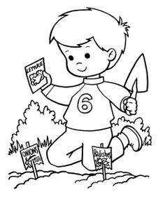 Spring With Young Kids Coloring Pages