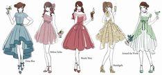 Drawing Anime Clothes, Dress Drawing, Anime Girl Dress, Anime Art Girl, Fashion Design Drawings, Fashion Sketches, Kawaii Drawings, Cute Drawings, Cute Art Styles