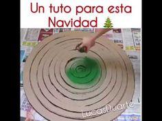Cómo hacer un árbol de Navidad de cartón y papel seda - YouTube
