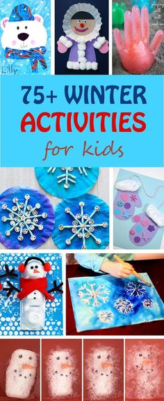 75+ winter activities for kids: crafts, art projects and science experiments. Snowflake, snowman, penguin, igloo, polar bear, winter tree, winter owl, mitten, winter hat, eskimo activities. | at Non-Toy Gifts