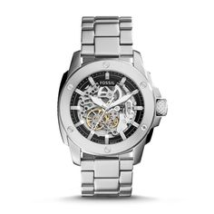 f7e1dd19b6a Fossil Modern Machine Automatic Stainless Steel Watch Mechanical Watch